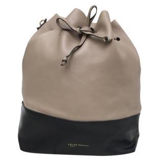 Celine Two-Tone Bucket Tote Bag
