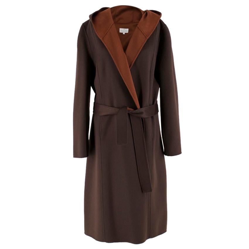 Eric Bompard Brown Cashmere Coat