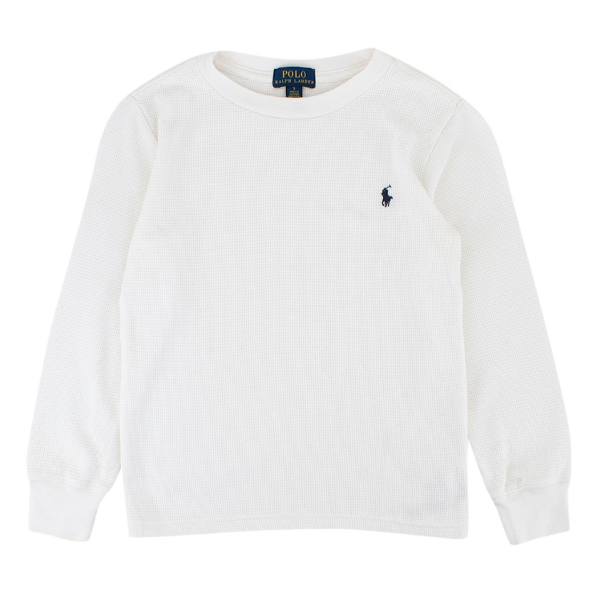 Polo Ralph Lauren Boys 5 White Cotton Long sleeve Top