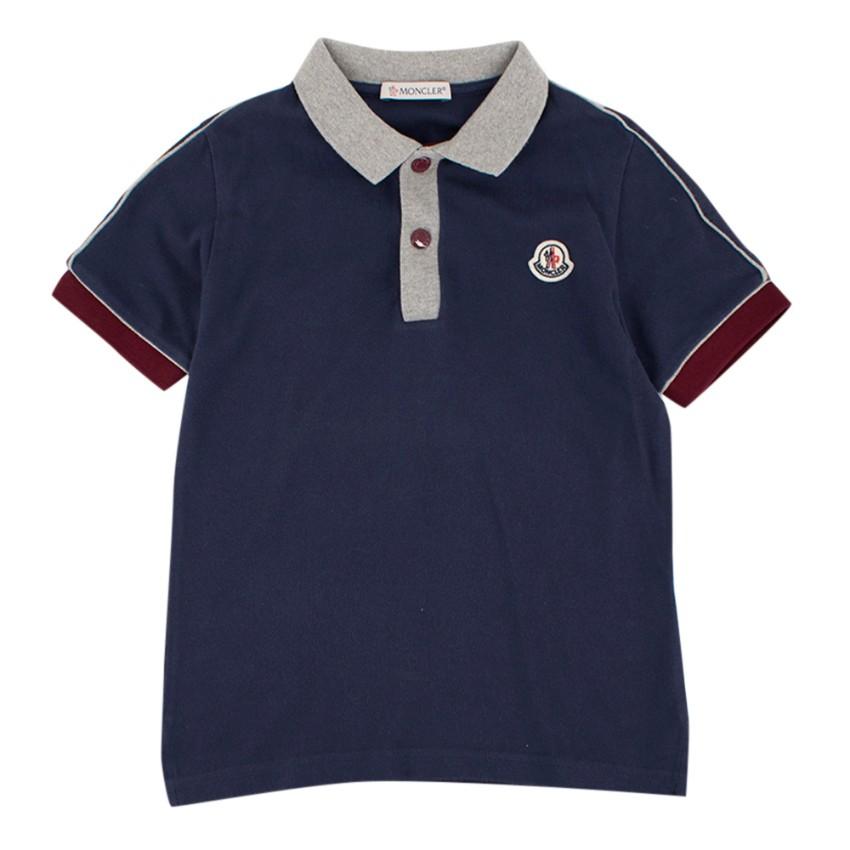 Moncler Boys Navy Blue Polo Shirt