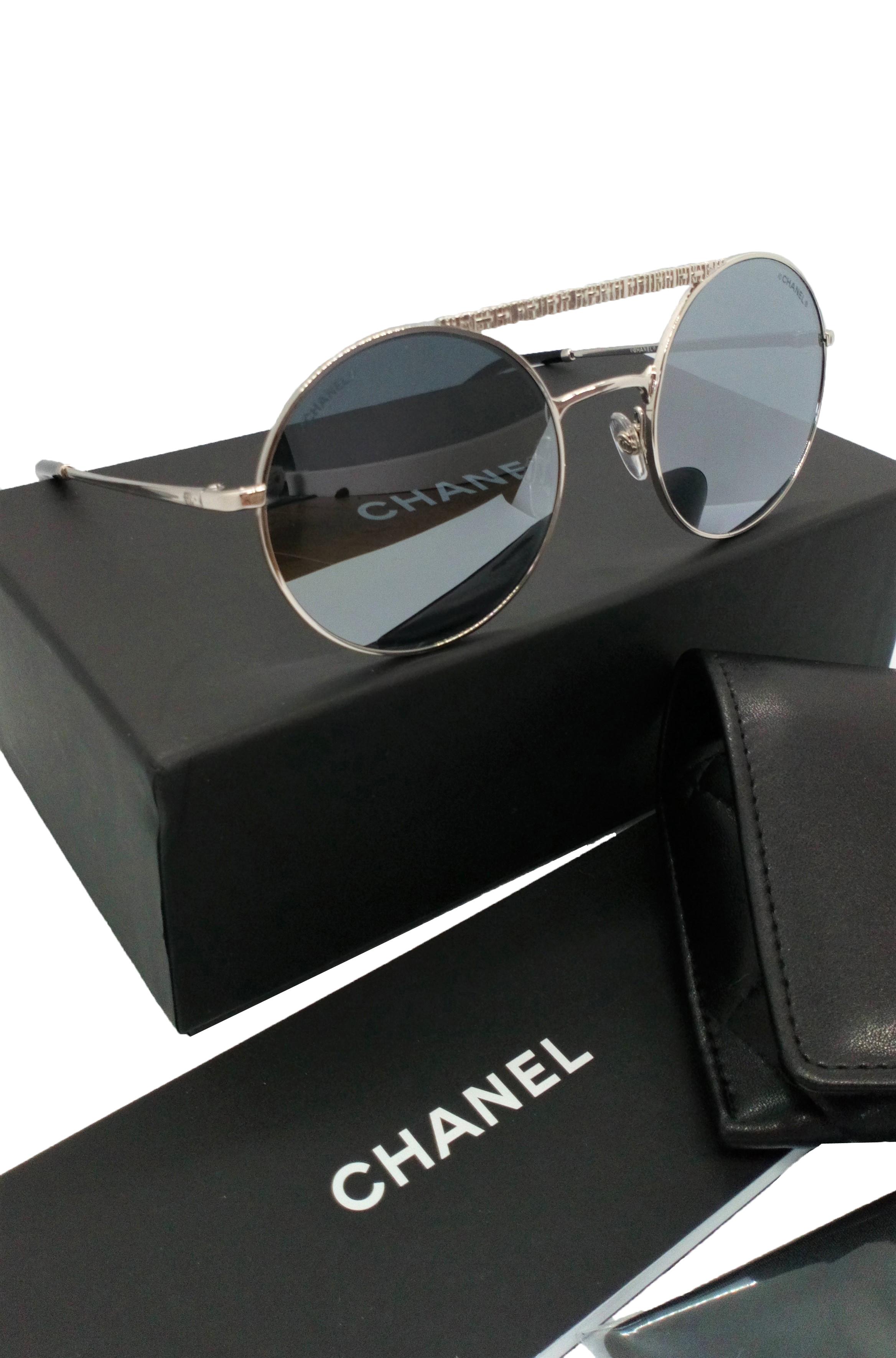 347e93b9 Chanel Round Mirrored Sunglasses