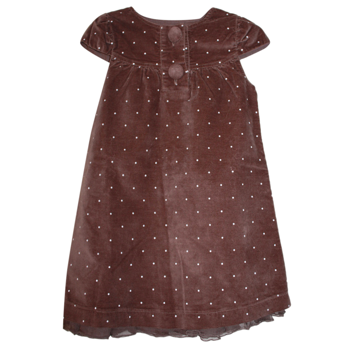Lili Gaifrette Velour Polka Dot Dress