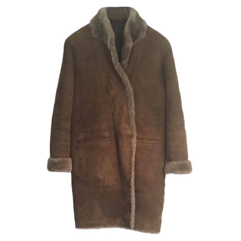 Sprung Feres Oversize Shearling Coat