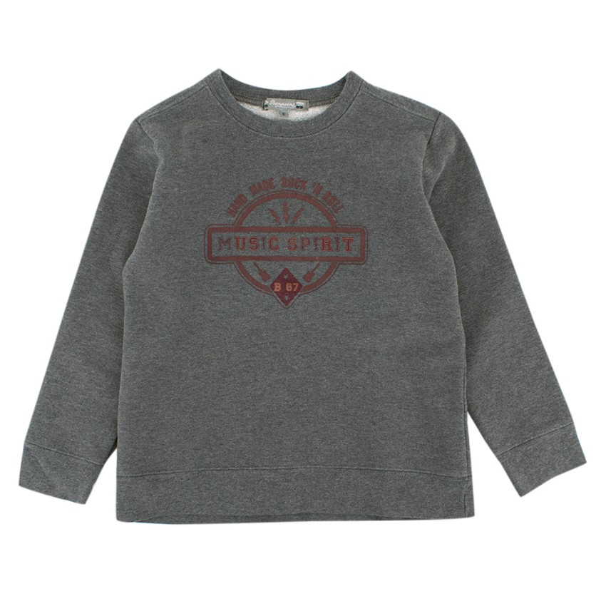 Bonpoint Boy's Grey Graphic Sweatshirt