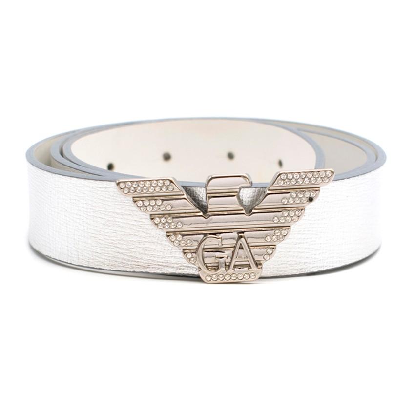 Emporio Armani Metallic Bird Buckle Belt