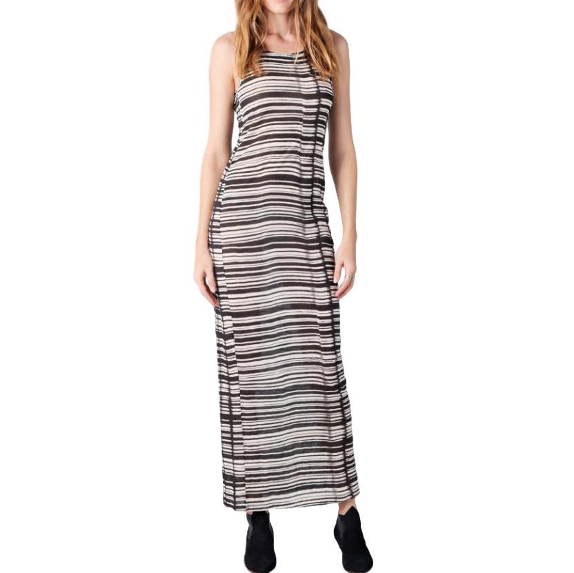 Acne Colleen Striped Midi Dress