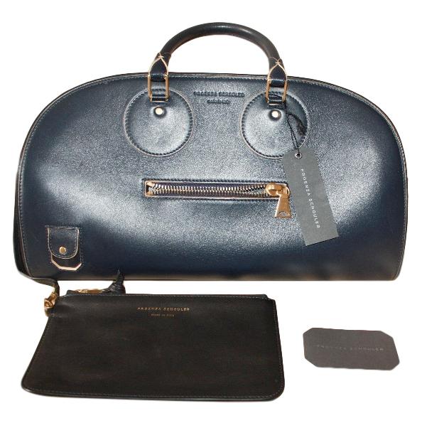 Proenza Schouler Navy Leather Kiri Tote Bag & Wallet