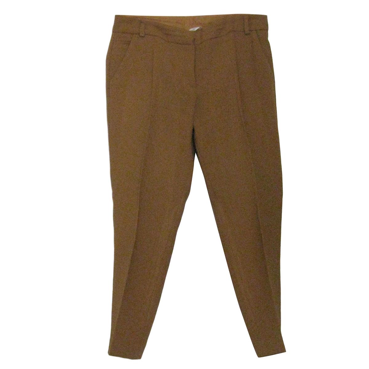 Diane Von Furstenberg Mustard Cropped Slim Fit Pants