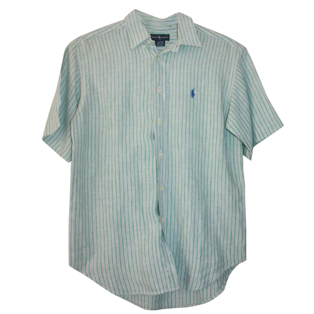 Ralph Lauren Boy's 10 Years Linen Striped Shirt