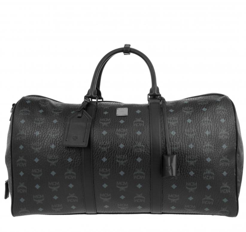 MCM monogram weekender bag in black
