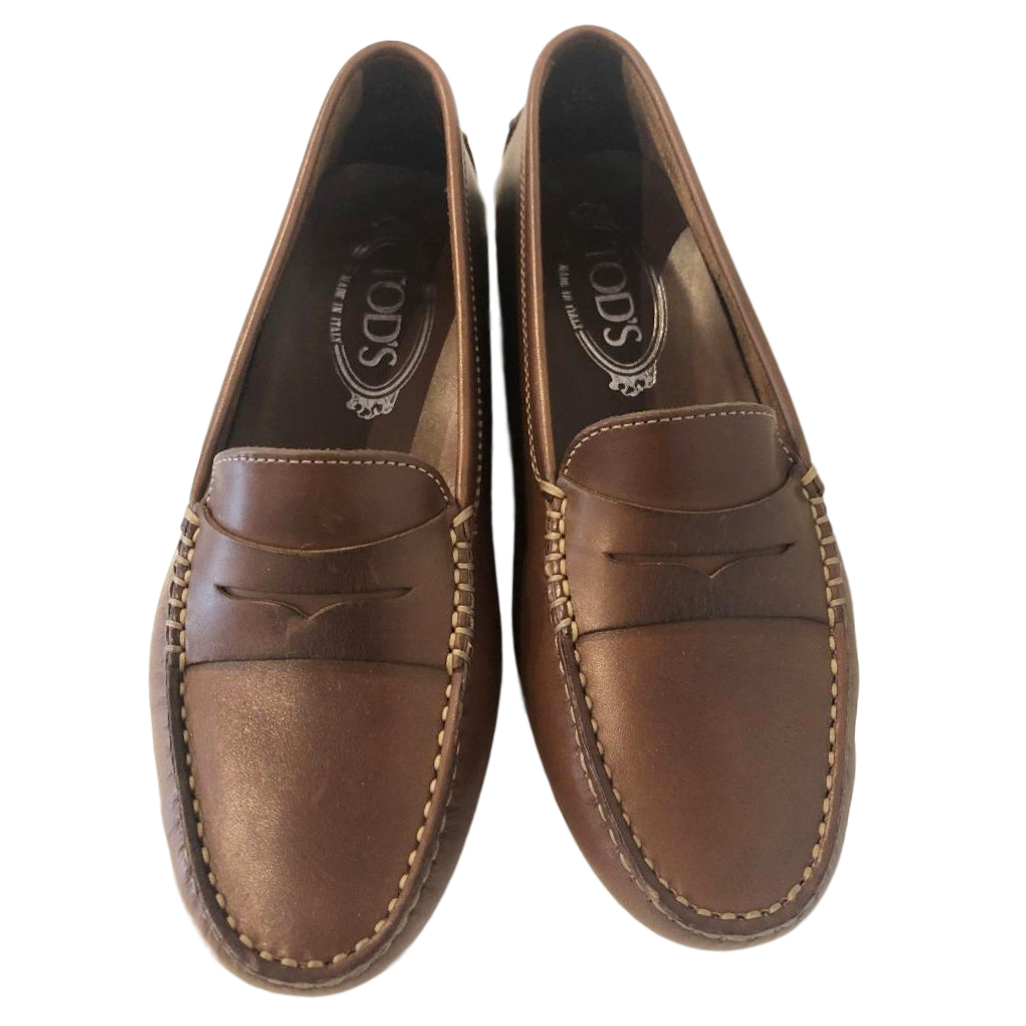 Tod's Brown Leather Mocassins