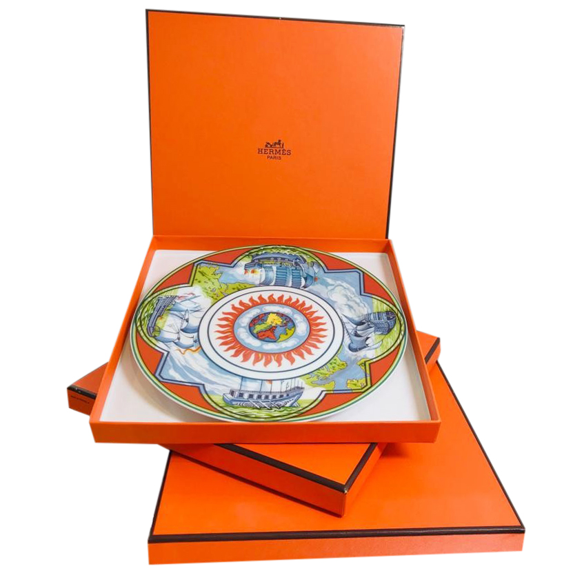 Hermes Patchwork Collection Alize Set of 3 Plates