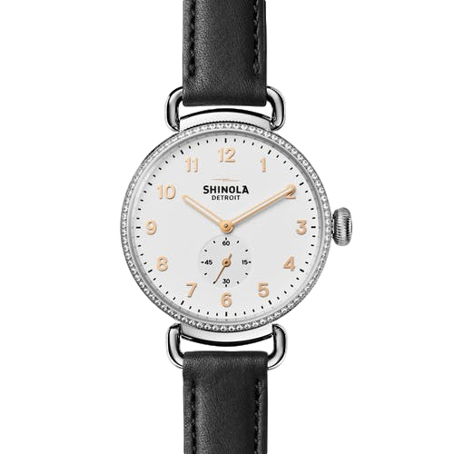 Shinola The Canfield With Diamonds 38mm Ladies Watch