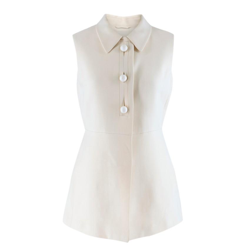 Prada Cream Sleeveless Wool Gilet