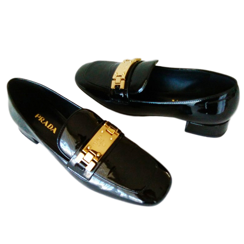 Prada patent leather loafers