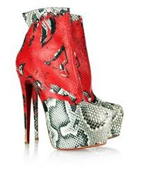 Louboutin Python Opaco Daf Booty Ankle Boots