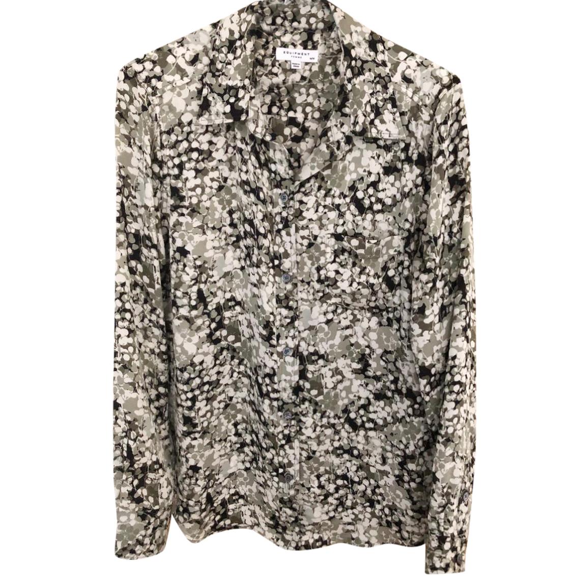Equipment Floral Camo Print Shirt