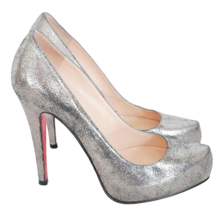 Christian Louboutin Crackled Leather Ronaldo 120 Pumps