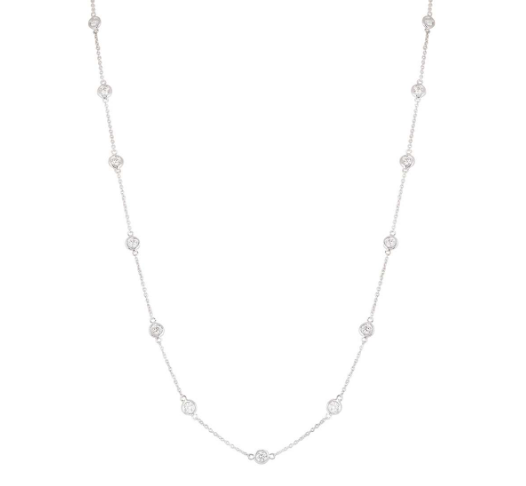 Bespoke White Gold Diamonds By The Yard Necklace