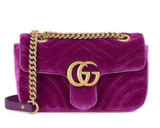 Gucci GG Marmont Velvet Mini Chain Bag