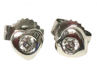 Bespoke 0.10ct Diamond Solitaire Heart Earrings