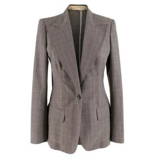 Stella McCartney Grey Glen Plaid Check Blazer