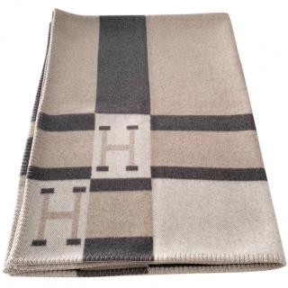 Hermes Merion Wool & Cashmere Avalon Bayadere Throw Blanket