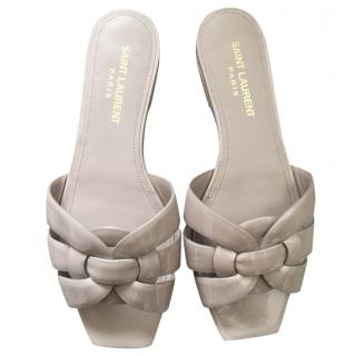 Saint Laurent Nude Patent Tribute Sandals