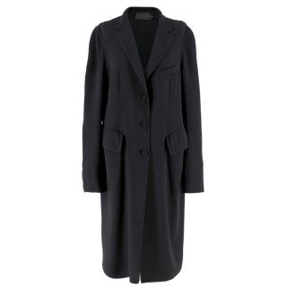 Donna Karan Black Wool Lightweight Coat