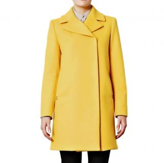 Sportmax Yellow Wool & Cashmere Zarda Coat