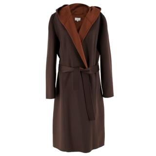 Eric Bompard Brown Cashmere Coat