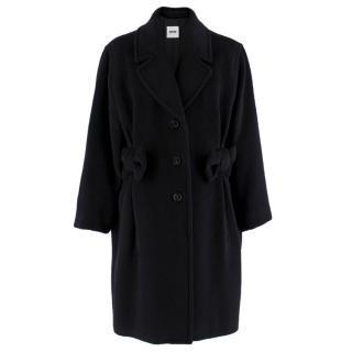 Moschino Cheap & Chic Black Alpaca Wool Blend Coat
