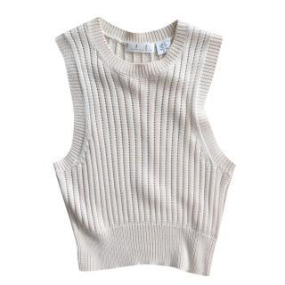 TSE Silk Ribbed Knit Vest