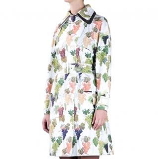 Kenzo Grape Print Trench Coat