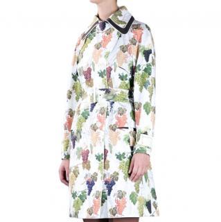 Kenzo Grape Print Trench Coat
