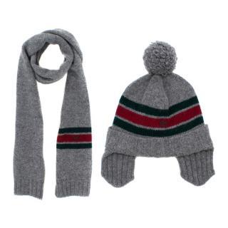 Gucci Kids Wool Hat & Scarf