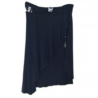 Roberto Cavalli Black Wrap Skirt