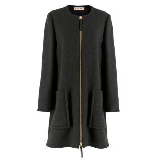 Marni Charcoal Wool Swing Coat