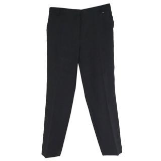 Massimo Dutti Herringbone straight leg trousers