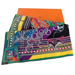 Hermes Riding Silk Scarf 90