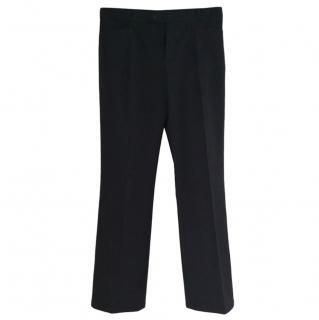 Joseph Navy Straight Leg Trousers