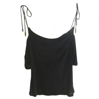 Givenchy Cold Shoulder Lace Tie Top