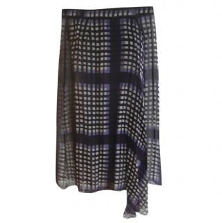 Rochas Plum & Lilac Sheer Skirt