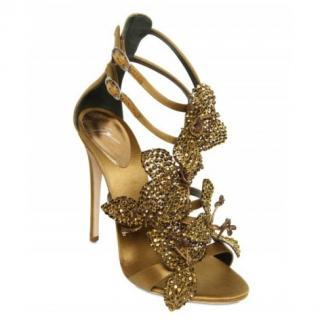 Giuseppe Zanotti Silk & Swarovski Sandals