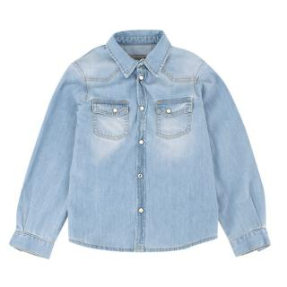 Bonpoint Denim Button-up Top