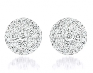 iliana 1.000ct 18kt White Gold DIamond Cluster Earrings