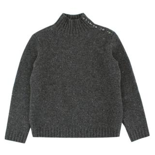 Bonpoint Boys 6Y Grey Cashmere Knit Sweater