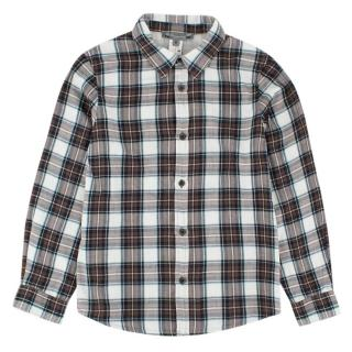 Bonpoint Brown Checkered Boy's Button-up Top