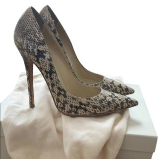 Jimmy Choo Snakeskin Anouk Pumps