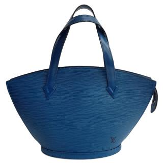 Louis Vuitton Saint Jacques Blue Epi Leather Tote